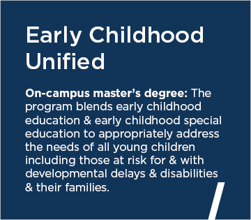 Early Childhood Unified On-campus master's degree