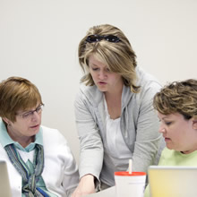 Special Education doctoral students interacting in the classroom