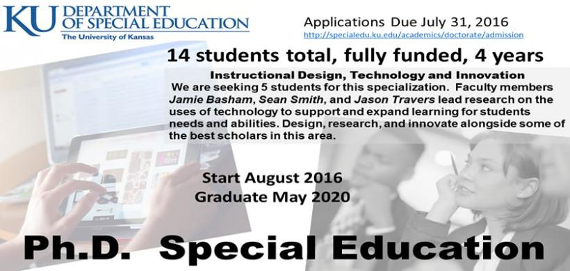 Technology innovation special ed doctorate